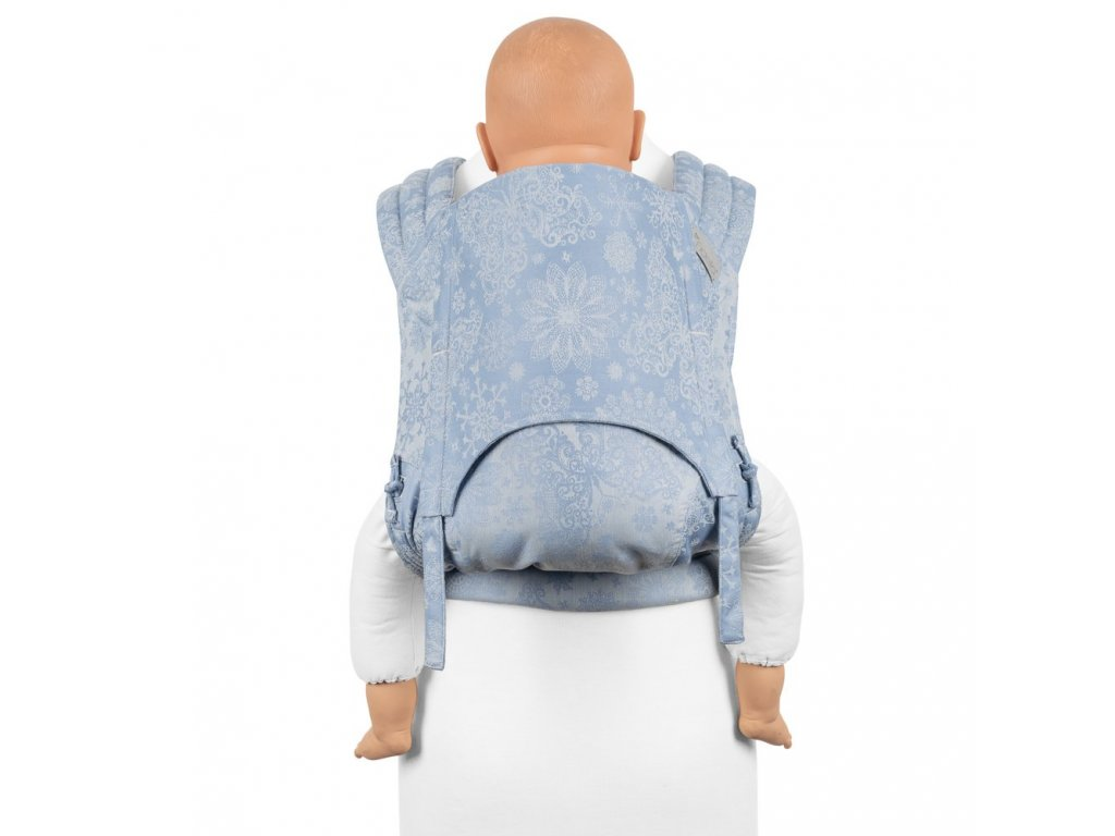 fidella flyclick plus baby carrier classic iced butterfly light blue
