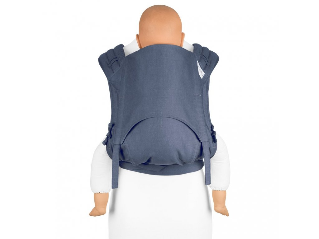 fidella flyclick plus baby carrier classic chevron denim blue