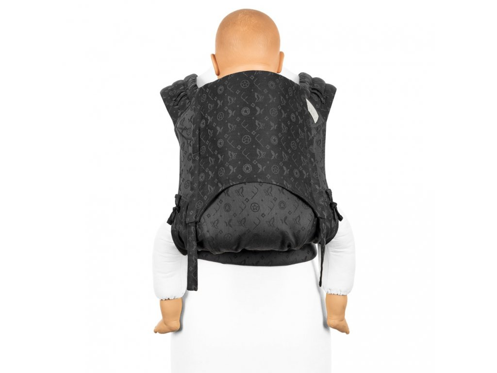flyclick plus halfbuckle baby carrier saint tropez charming black toddler