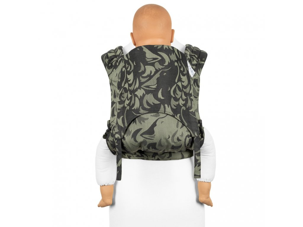 fidella flyclick plus baby carrier classic wolf reed green