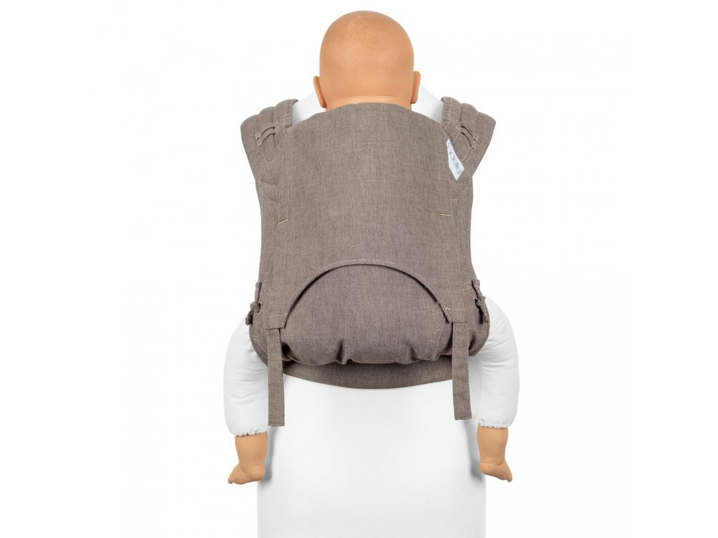 fidella flyclick plus baby carrier classic chevron walnut