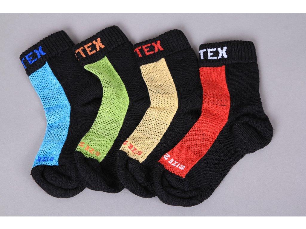 Surtex Dětské Sportovní merino/bavlna ponožky (Varianta velikost 22-23)