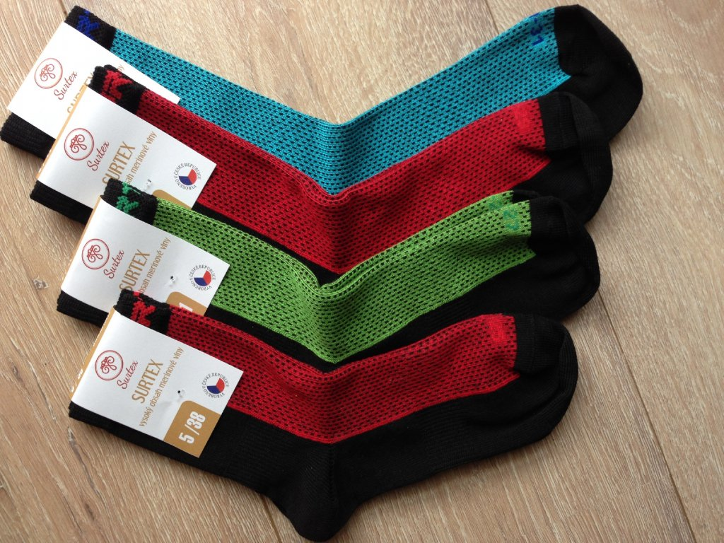 Surtex Sportovní merino/bavlna ponožky (Varianta velikost 25-27 cm (5-7))