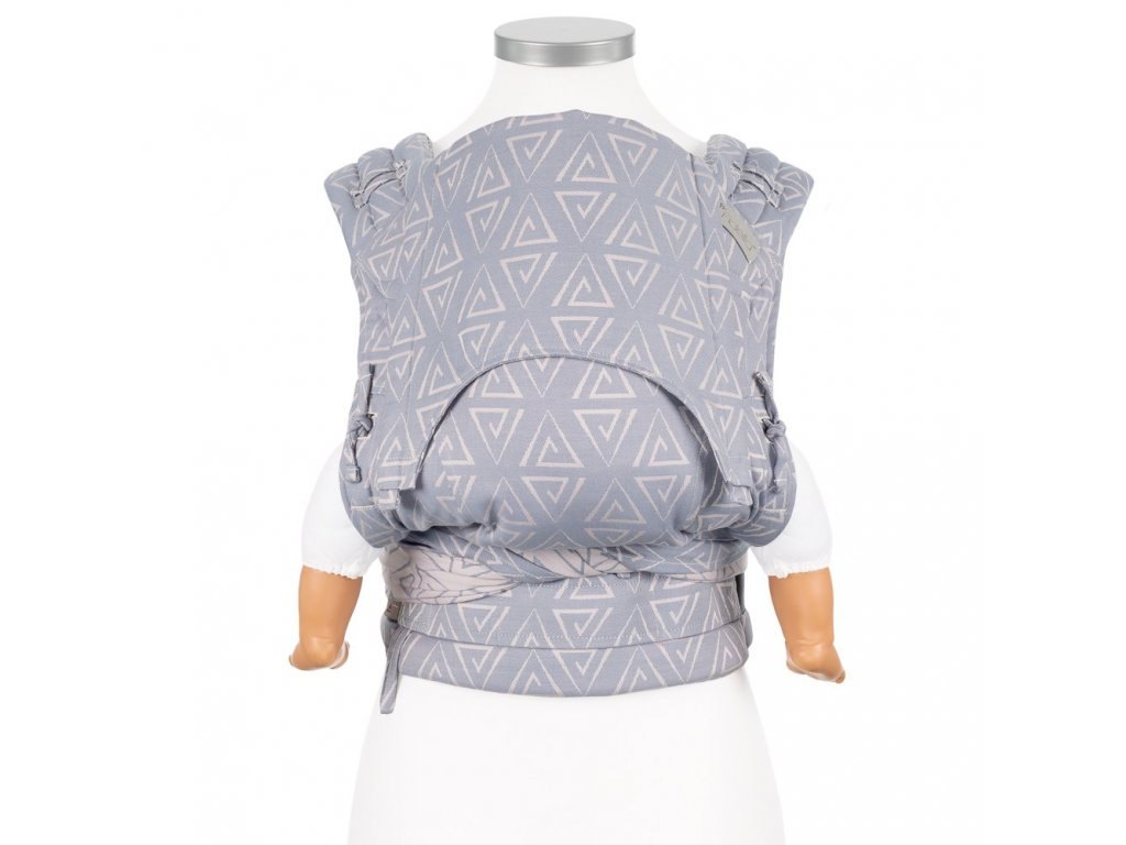 flyclick halfbuckle baby carrier paperclips ash blue baby