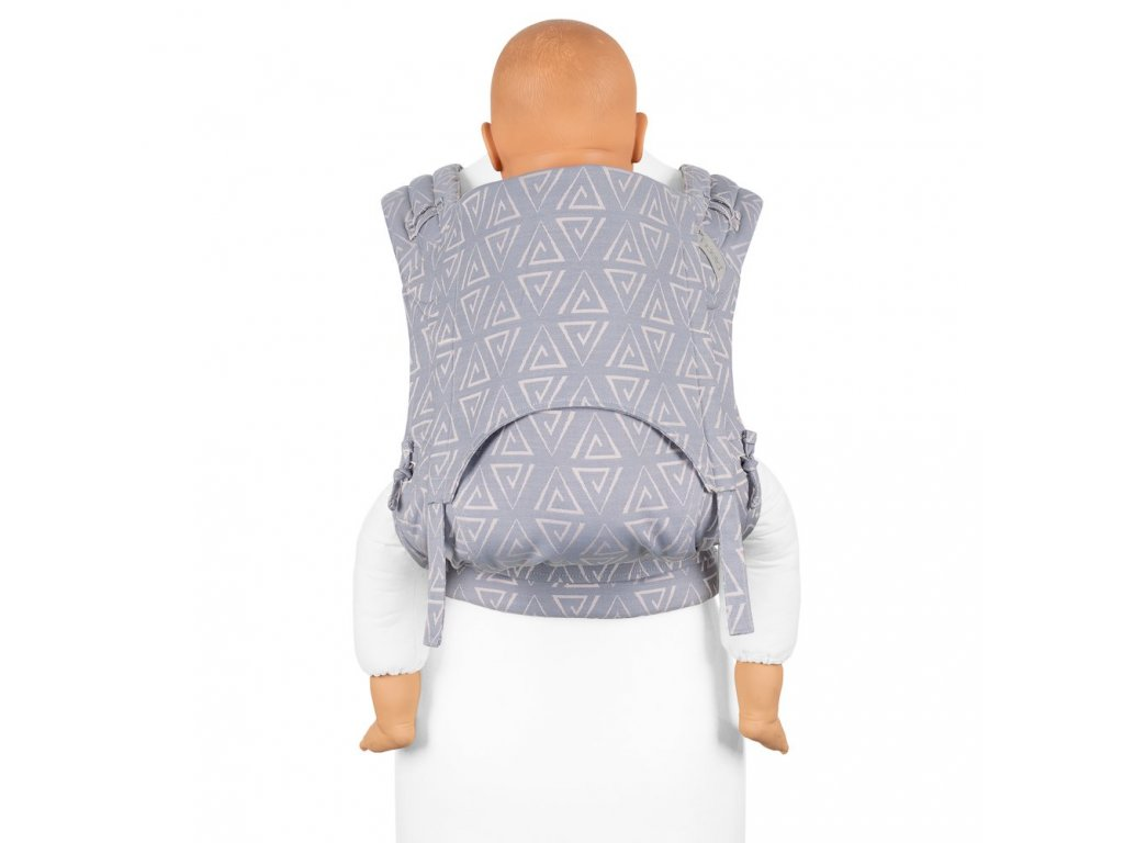 flyclick plus halfbuckle baby carrier paperclips ash blue toddler