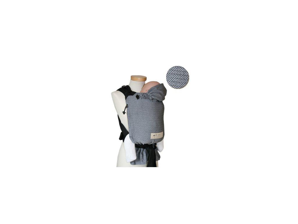 Storchenwiege LEO ČERNOBÍLÉ  + 1x pár návlečků na nožičky
