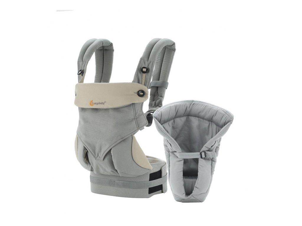 Ergo Baby SET Bundle of Joy 360 Grey  + 1x pár návlečků na nožičky