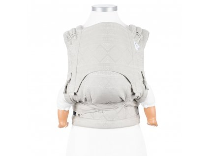 fidella flyclick baby carrier classic cubic lines pale grey