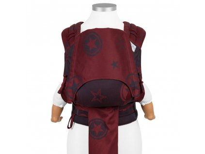 flyclick baby carrier classic outer space ruby red