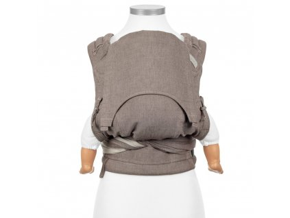 fidella flyclick baby carrier classic chevron walnut