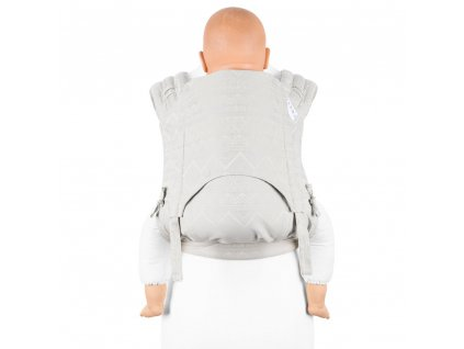 fidella flyclick plus baby carrier classic cubic lines pale grey