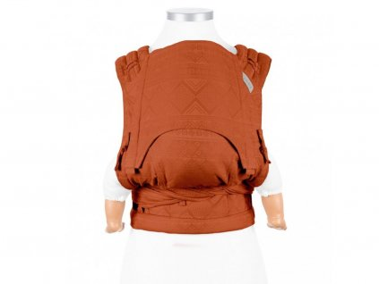 flyclick plus halfbuckle baby carrier dancing leaves black white toddler