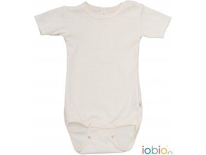 Iobio Body krátký rukáv vlna/hedv - přírodní