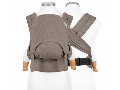 flowclick halfbuckle baby carrier chevron walnut baby