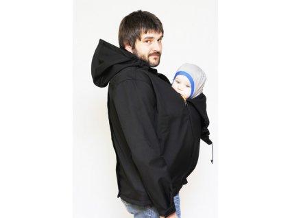 Adelay PÁNSKÁ Softshellová bunda pro nošení dětí