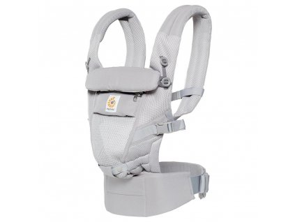 Ergo Baby ADAPT Cool Air Mesh - Pearl Grey  + Spací pytel ErgoBaby ON THE MOVE