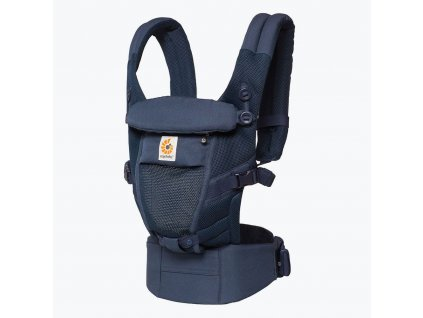 Ergo Baby ADAPT Cool Air Mesh - Deep Blue  + Spací pytel ErgoBaby ON THE MOVE