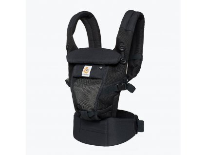 Ergo Baby ADAPT Cool Air Mesh - Onyx Black  + Spací pytel ErgoBaby ON THE MOVE