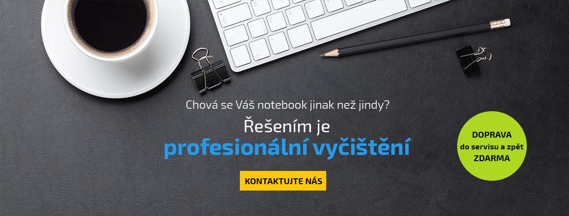 Čištění notebooků