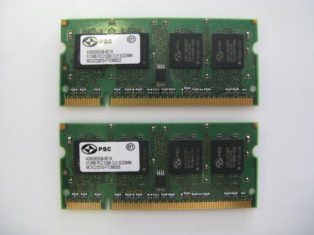 2x 512MB DDR2 667MHz