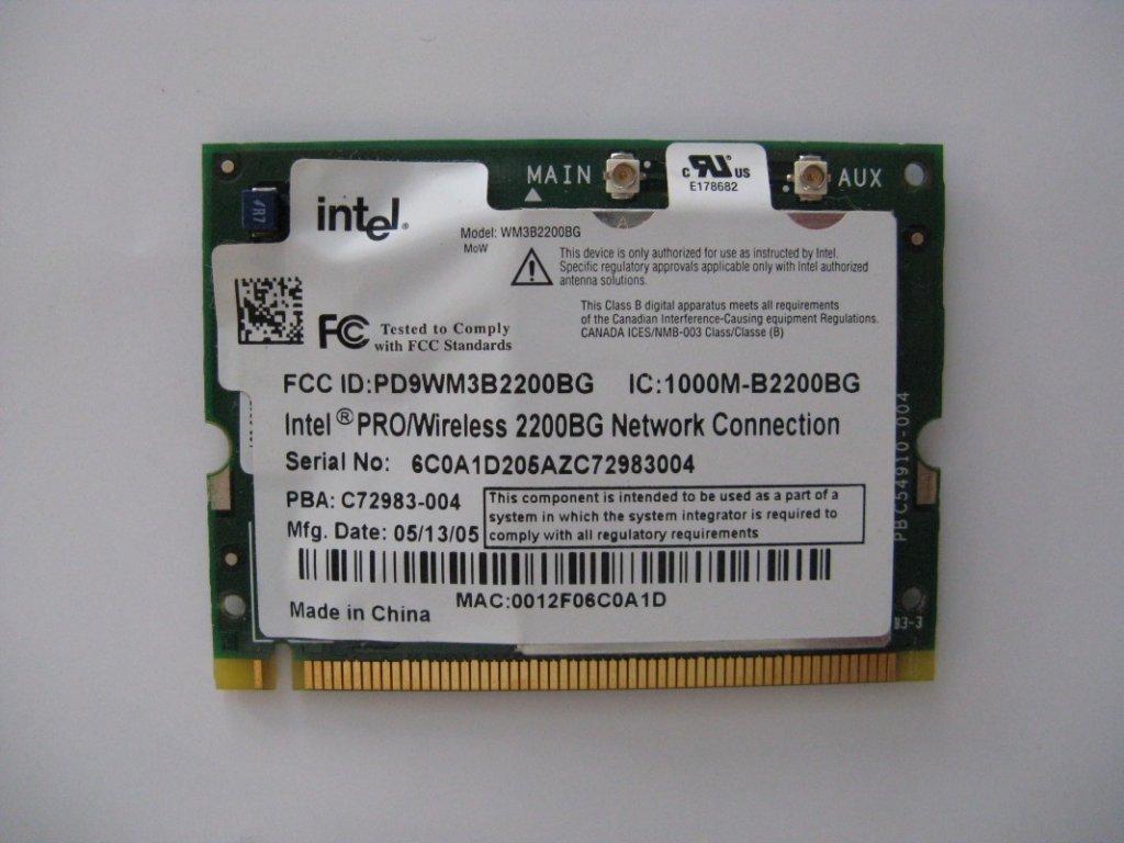 WiFi Mini Intel Adapter PCI Card