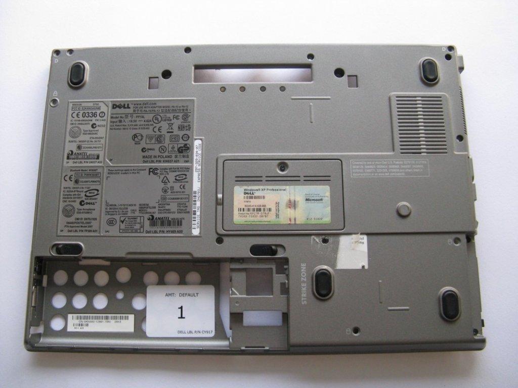 Spodní kryt pro Dell PP18L