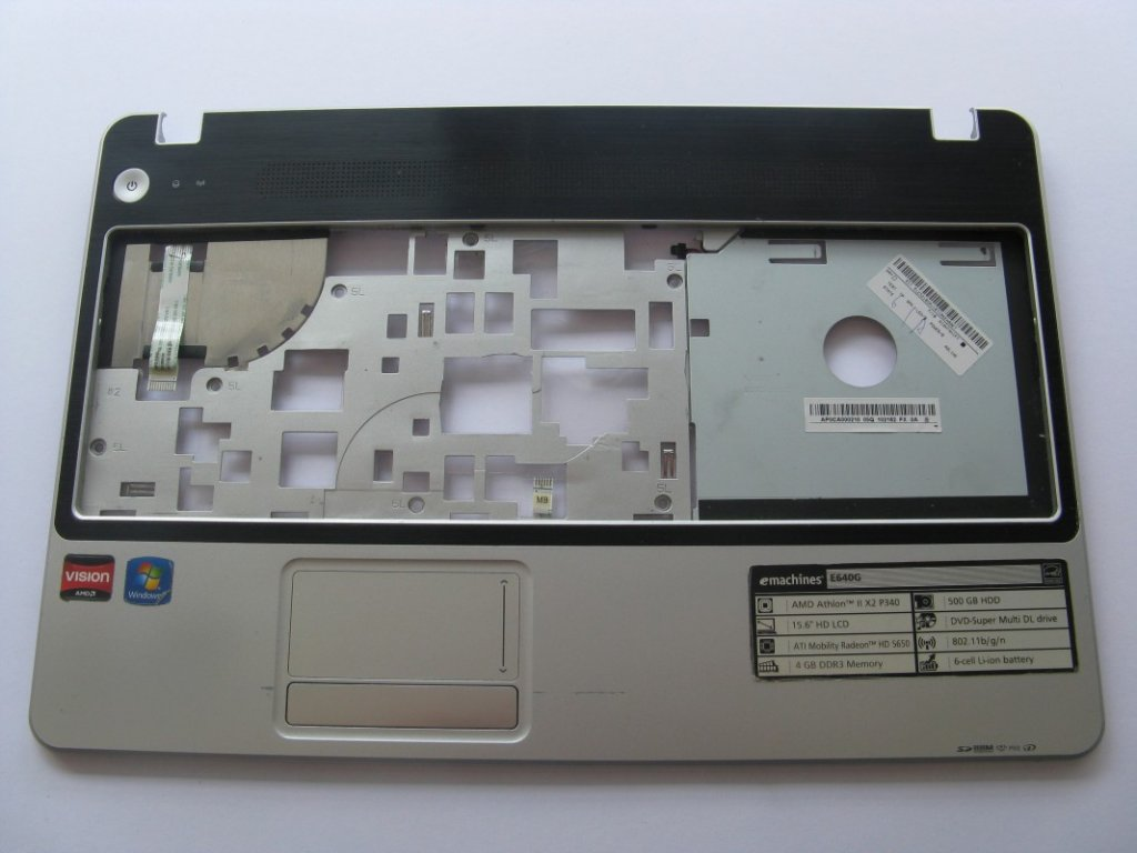 Vrchní kryt pro eMachines E640G