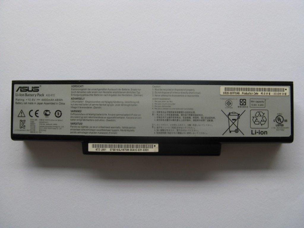 Baterie pro Asus K72J
