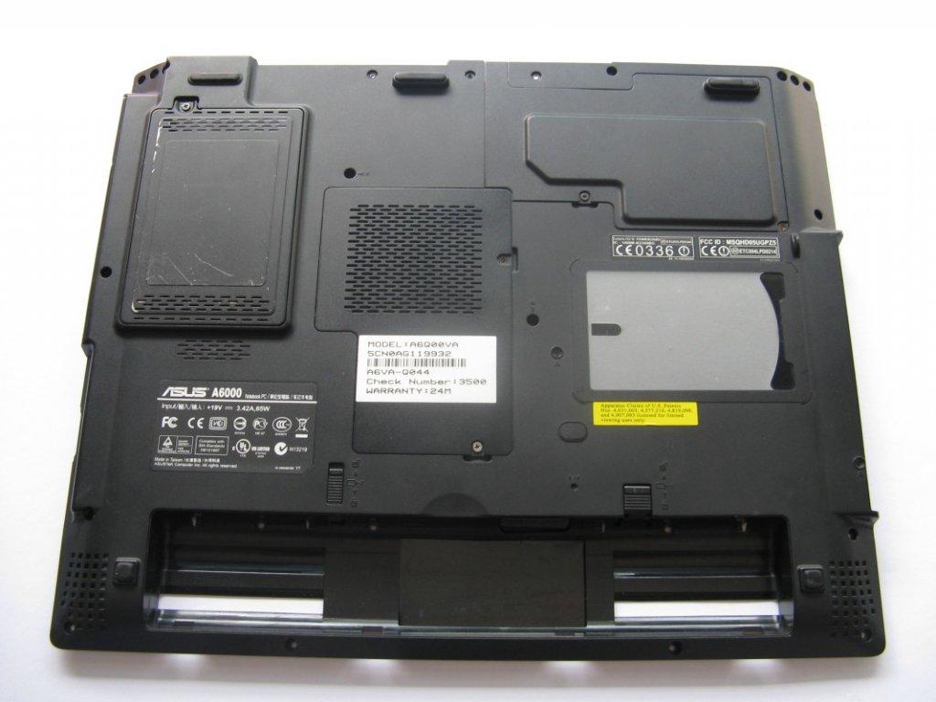 Spodní kryt pro Asus A6000