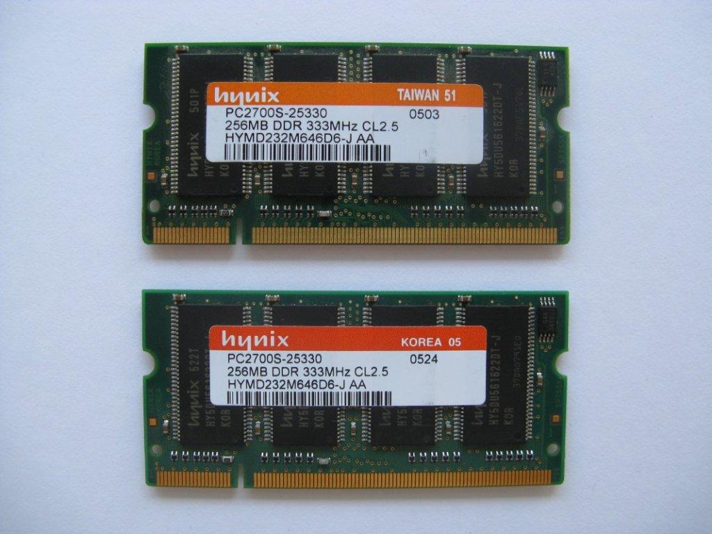 2x 256MB DDR 333MHz