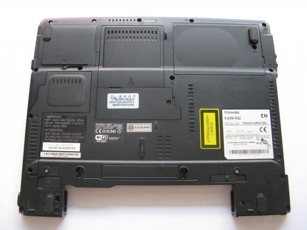 Spodní kryt pro Toshiba Satellite A50-542