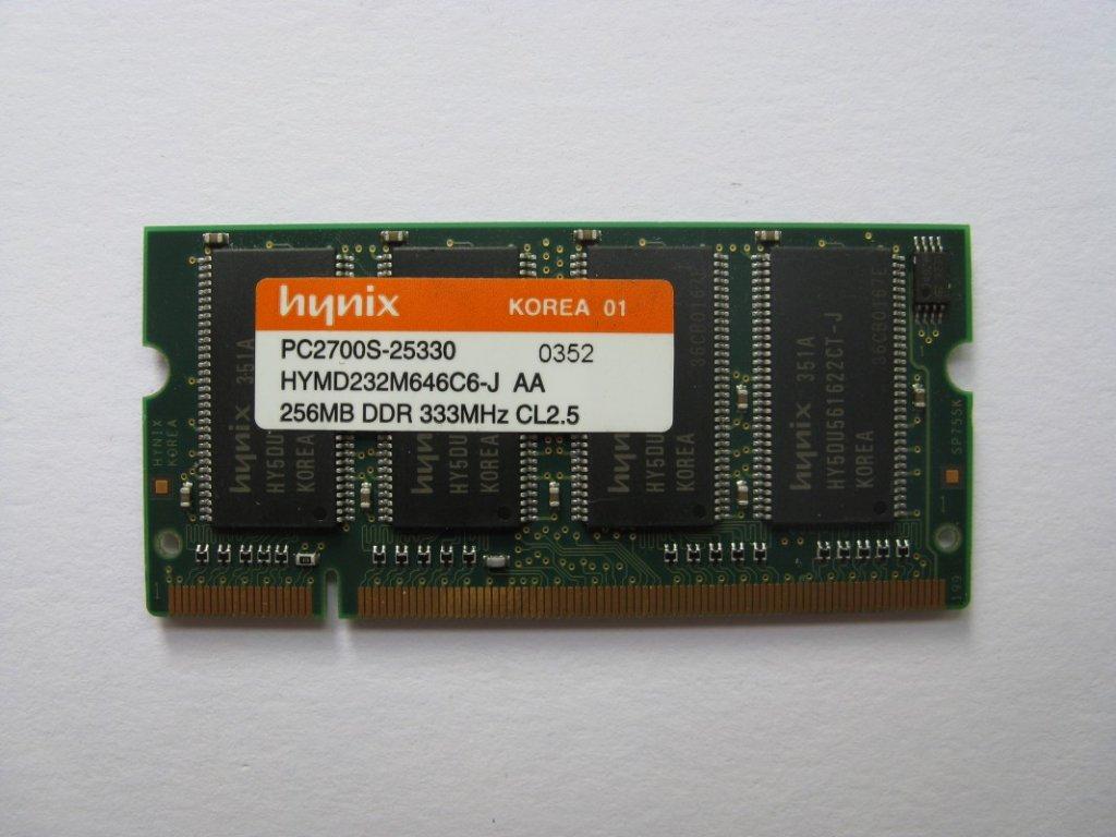 256MB DDR 333MHz