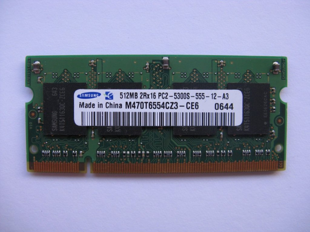 512MB DDR2 667 MHz