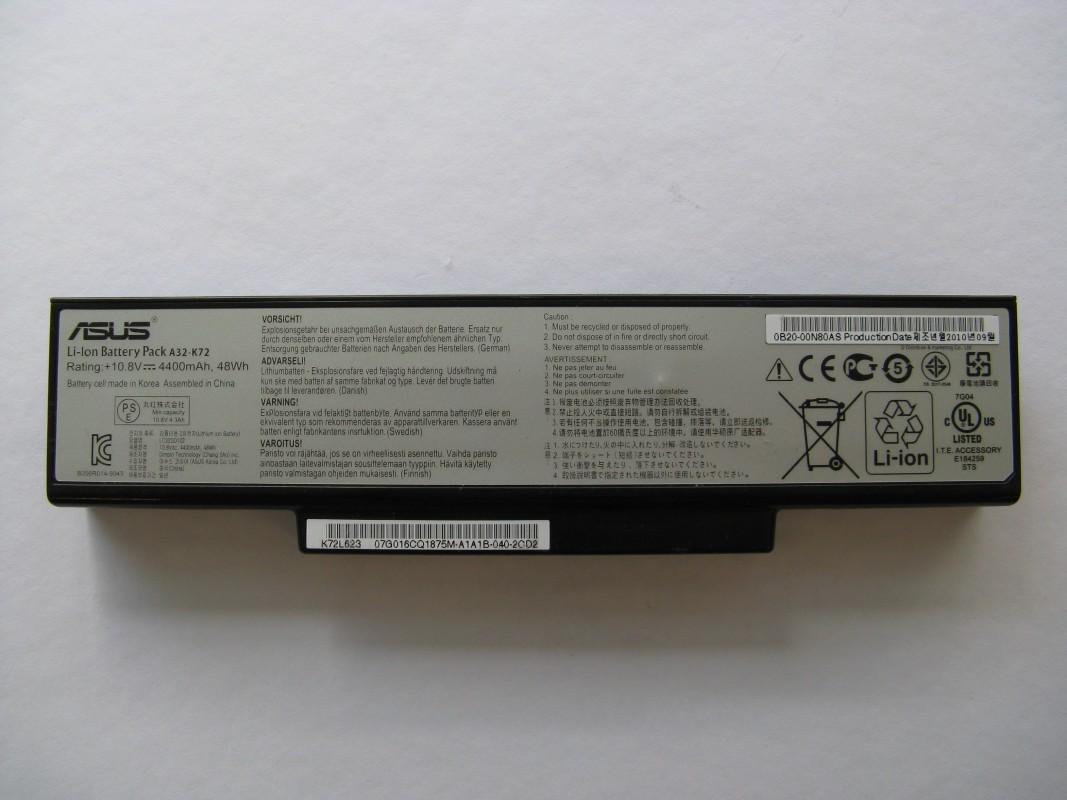 Baterie pro Asus A72D