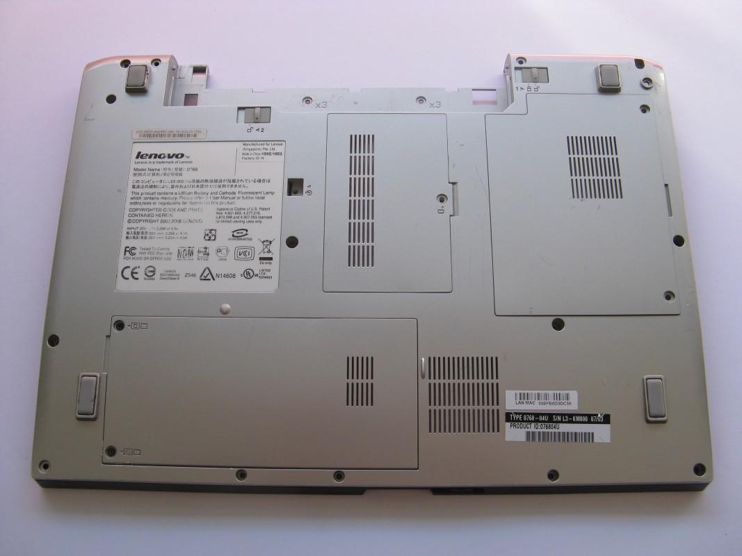Spodní kryt pro Lenovo 3000 N100