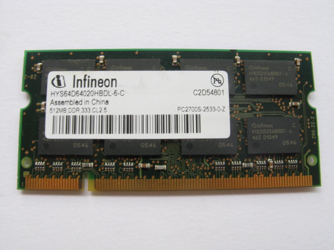 512MB DDR 333MHz