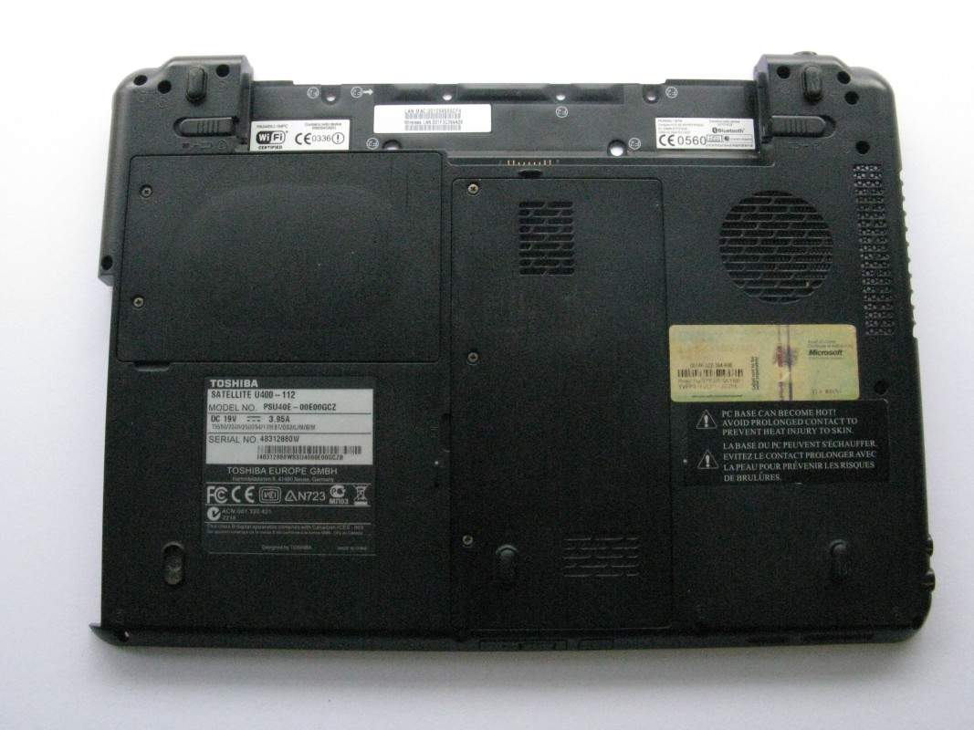 Spodní kryt pro Toshiba Satellite U400-112