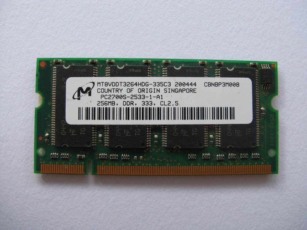 Micron 256MB DDR 333MHz