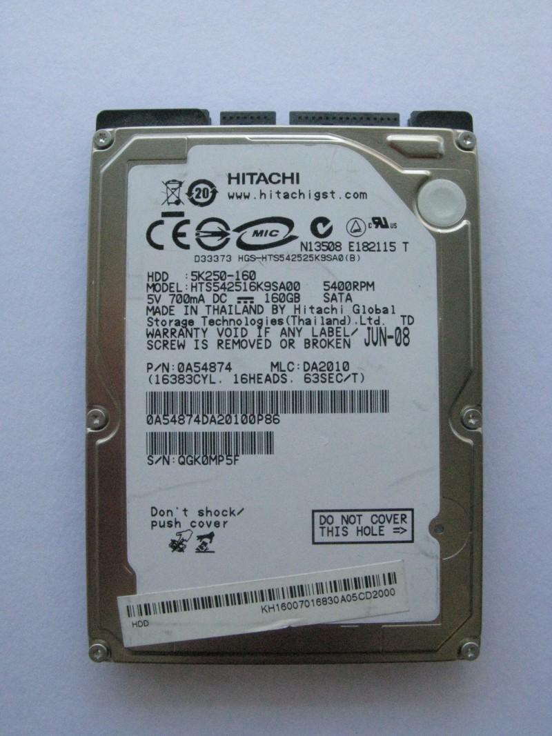 "HDD 160 GB 2.5"" SATA HITACHI"