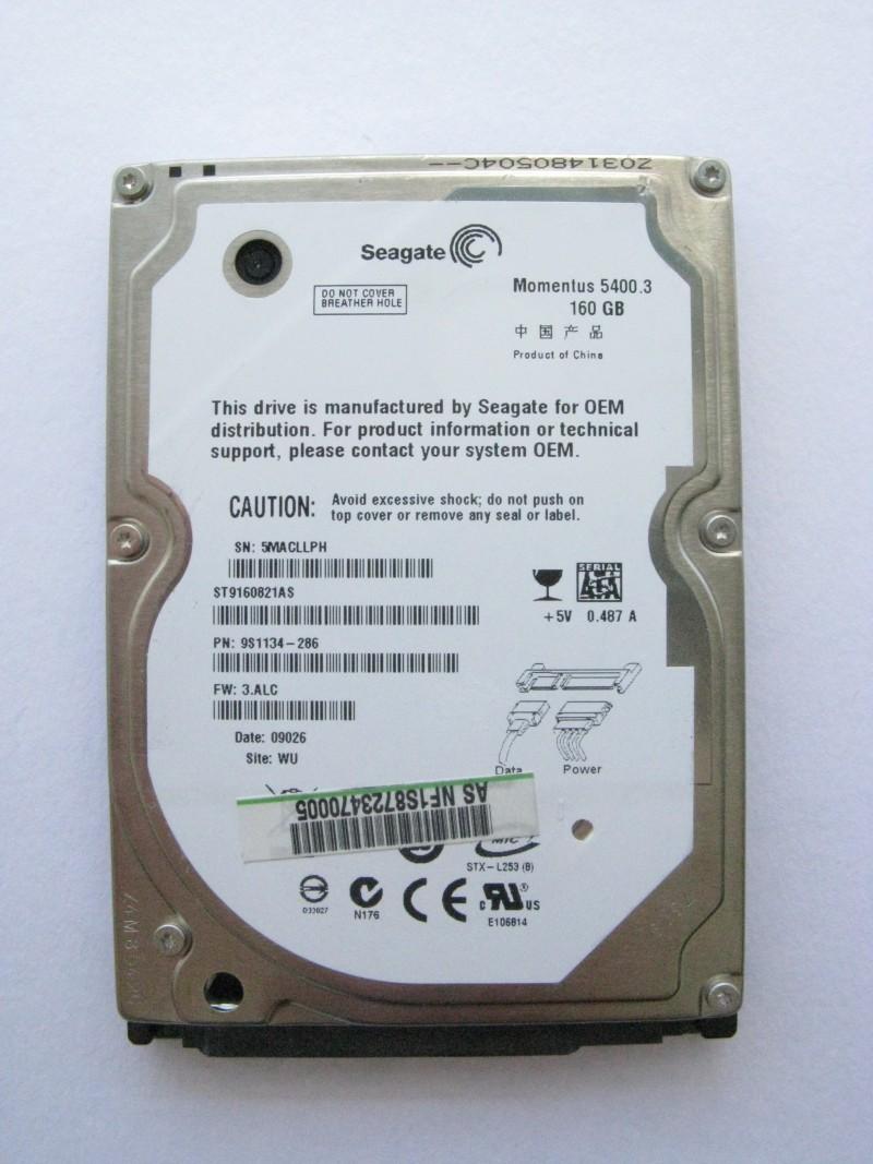 "HDD 160 GB 2.5"" SATA Seagate"