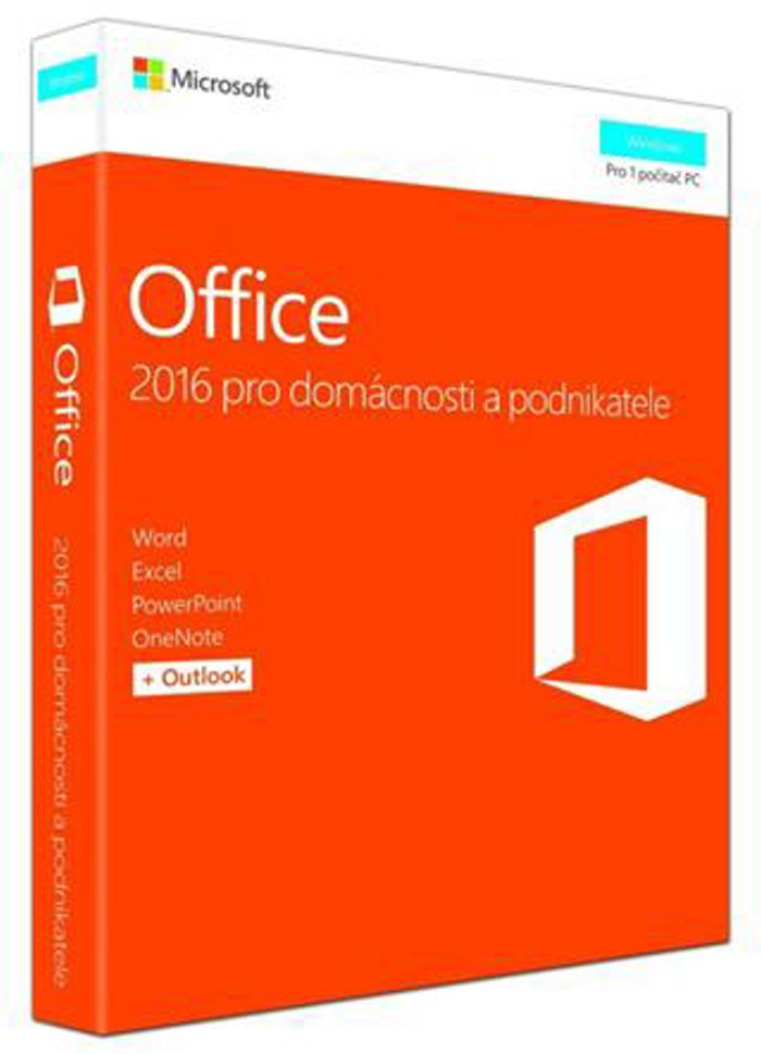 OFFICE 2016 HOME AND BUSINESS CZ P2 (PRO PODNIKATELE) T5D-02737