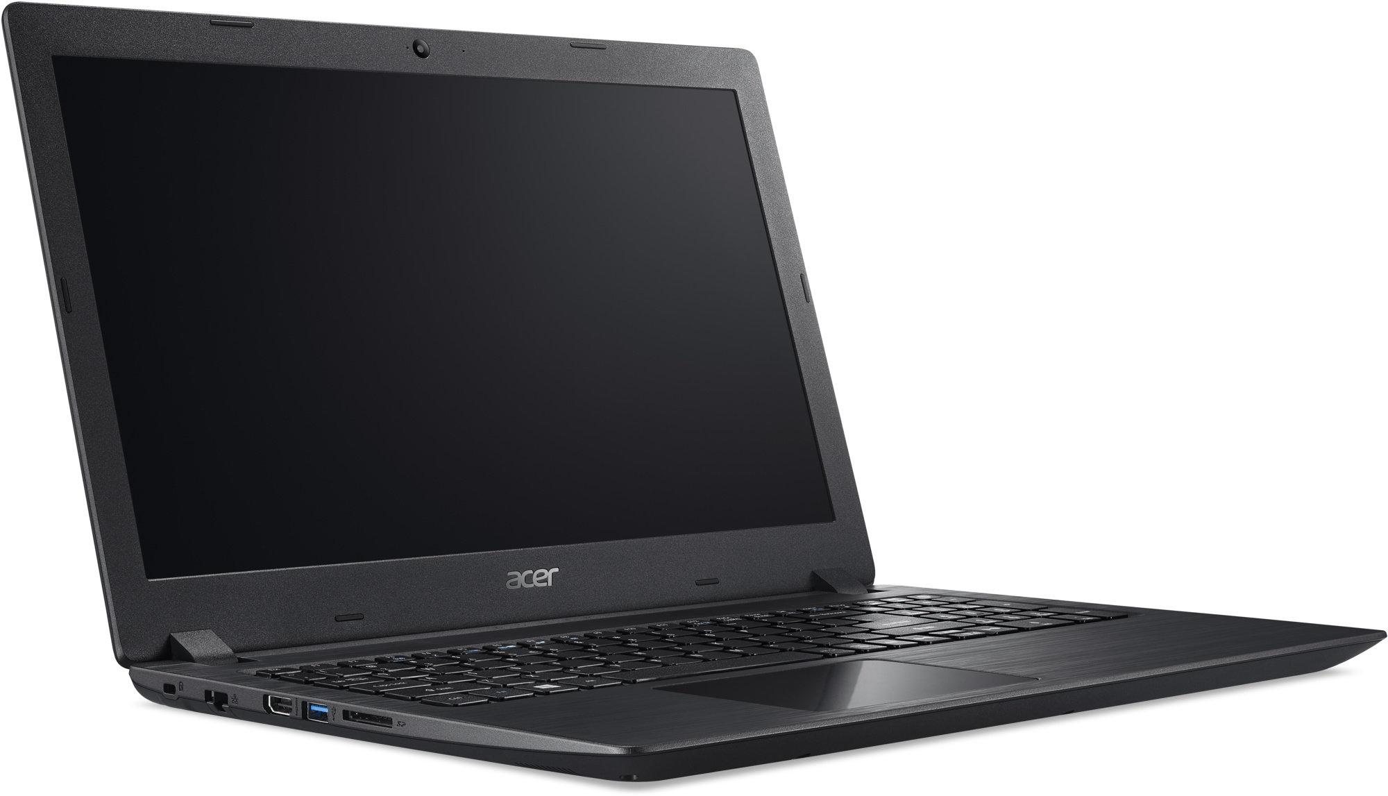 """Acer NTB Aspire 3 (A315-31-C4UF) - Celeron N3350@1.1GHz, 15.6"""" FHD mat,4GB,128SSD, čt.pk. noDVD,Intel HD,2č,W10H,černá NX.GNTEC.004"""