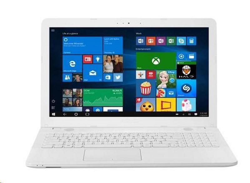 """ASUS NB X541NA - N3350, 15.6"""" HD matný, intel HD, 4G, 500GB/5400, DVD W10, bílá - rozbaleno X541NA-GQ204T"""