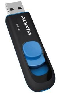 ADATA Flash Disk 16GB USB 3.0 Dash Drive UV128, černý/modrý (R: 40MB / W: 25MB) AUV128-32G-RBE