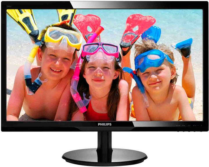 """Philips MT LED 24"""" 246V5LSB/00 - 1920x1080, 10mil:1, DVI, D-Sub 246V5LSB/00"""