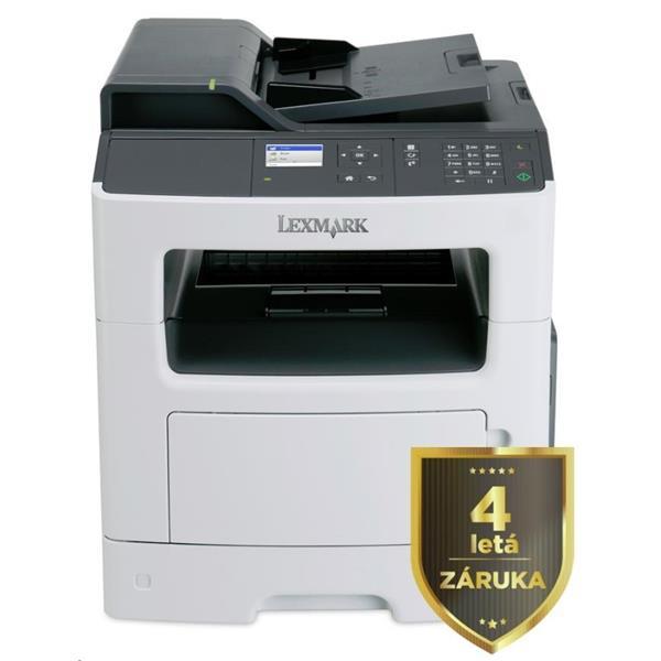 LEXMARK Multifunkční ČB tiskárna MX317dn, A4, 33ppm, 256MB, barevný LCD displej, duplex, ADF, USB 2.0, LAN 35SC745