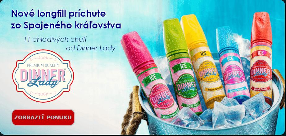 Novinka - longfill príchute Dinner Lady Ice 15ml
