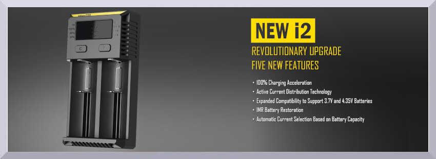 Nabíjačka článkových batérií Nitecore i2 New - banner