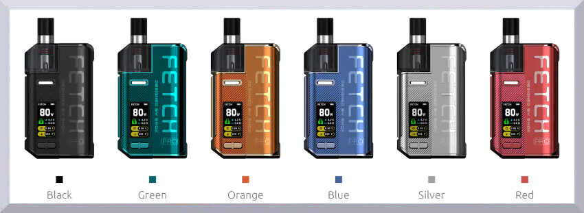 Banner s farbami elektronickej cigarety Smok fetch Pro