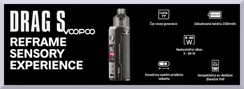 Elektronická cigareta Voopoo Drag S - úvodný banner